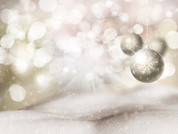 Fondo de navidad con adorno colgante