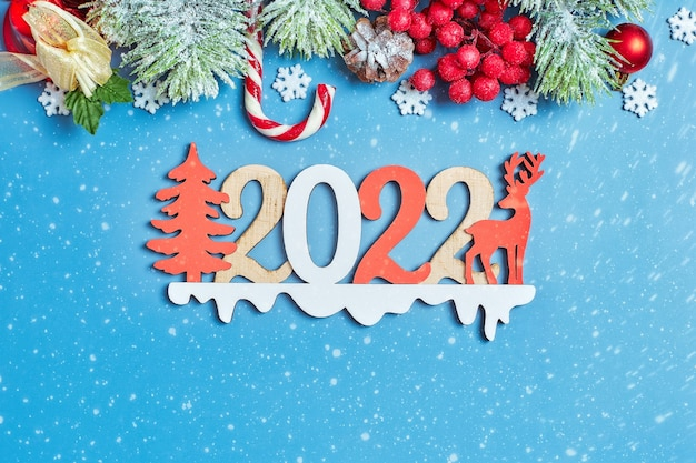 Fondo de navidad, celebración, concepto de fiesta de nochevieja. fondo de año nuevo con adornos de año nuevo.