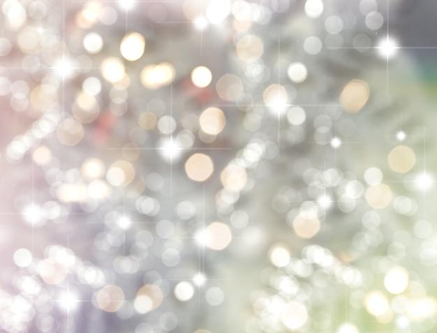 Fondo de navidad de estrellas y luces bokeh