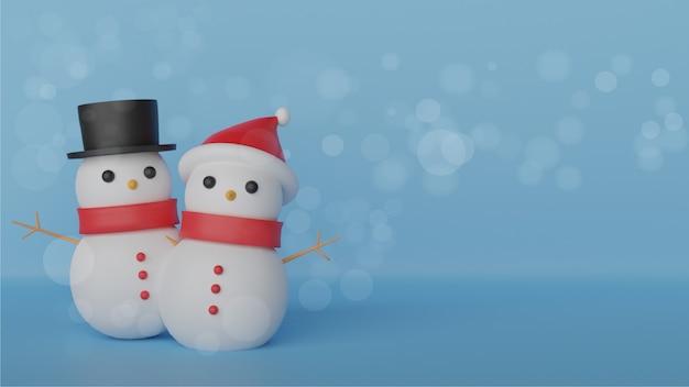 Fondo de navidad, feliz navidad, celebraciones navideñas con lindo muñeco de nieve ,.