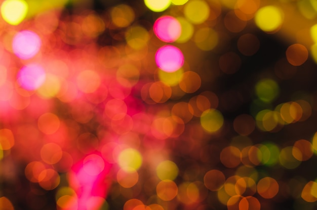 Fondo de navidad de luces y estrellas centelleantes