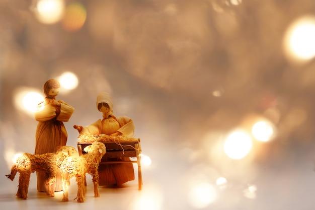 Fondo de navidad del niño jesús