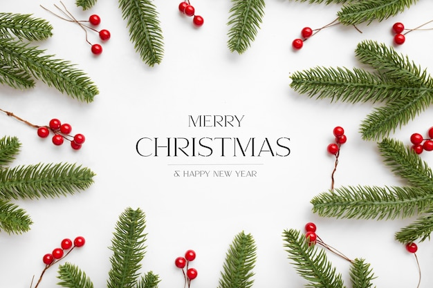 Fondo navideño con mensaje de saludo