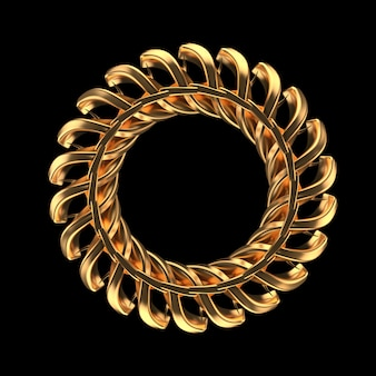 Fondo negro con joyas de oro aisladas.