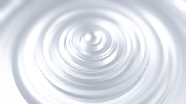 Fondo negro metálico futurista con anillos. ilustración 3d, renderizado 3d.