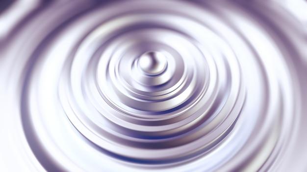 Fondo negro metálico futurista con anillos. representación 3d