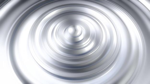 Fondo negro metálico futurista con anillos