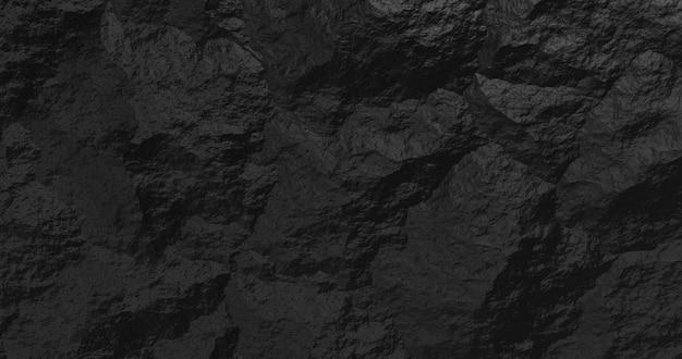 Fondo negro de piedra abstracta. representación 3d.