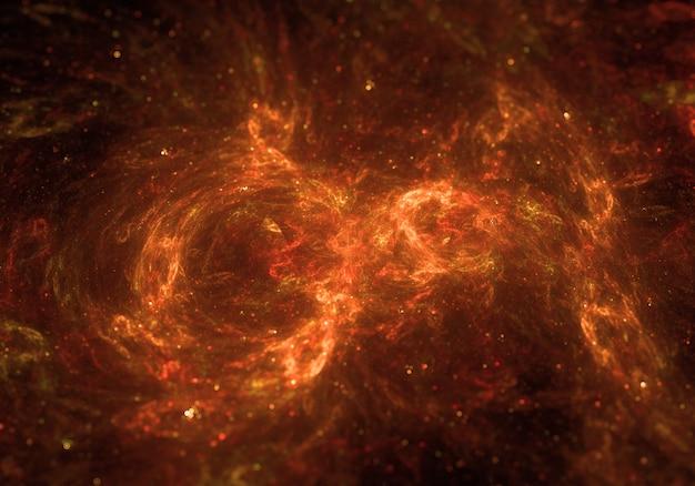 Fondo de nube espacial en fuego