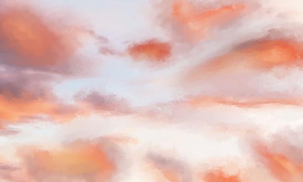 Fondo de nube pintado a mano de realidad