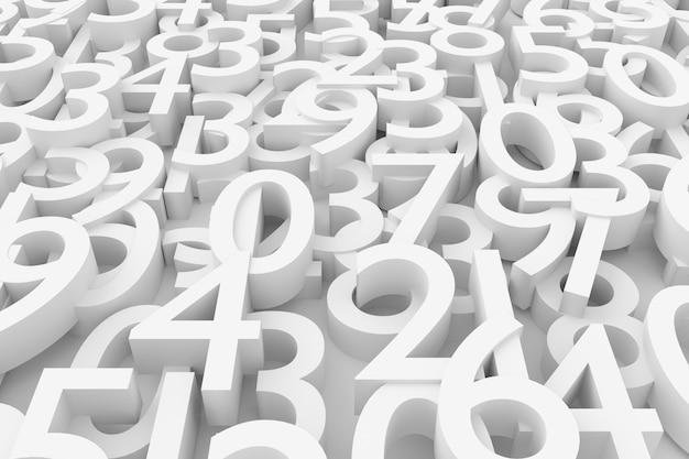 Fondo numérico. representación 3d.