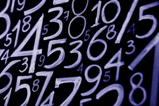 Fondo de números del cero al nueve textura de números concepto de datos financieros matematic con números concepto de crisis financiera éxito empresarial