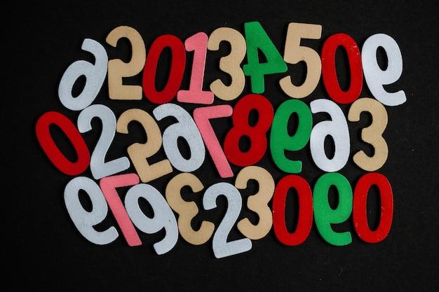Fondo de números del cero al nueve textura de números concepto de datos financieros