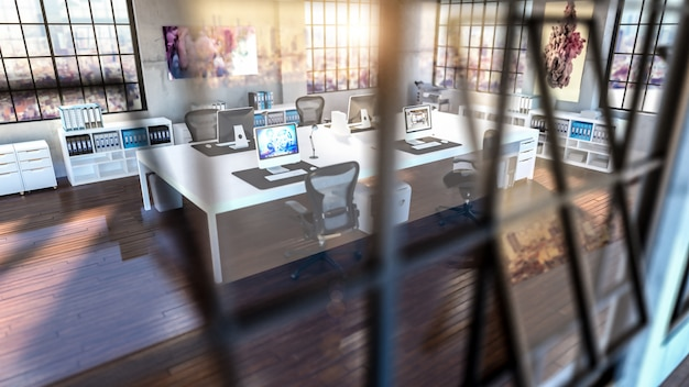 Fondo de la oficina moderna