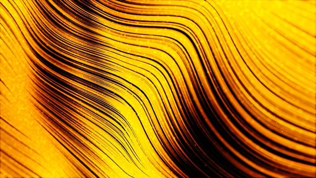 Fondo de onda de color oro abstracto digital para su negocio