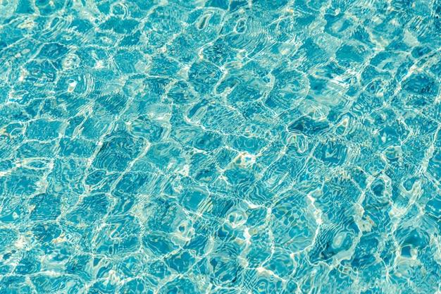 Fondo de ondulación de agua de piscina turquesa