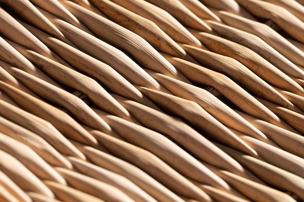 Fondo orgánico de detalles de cesta de primer plano