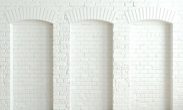 Fondo oscuro ladrillo arcos loft pared