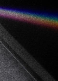 Fondo oscuro de la línea de gradiente del espectro del arco iris