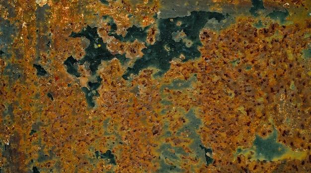 Fondo de óxido de metal, acero en descomposición, textura de metal con arañazos y grietas, pared de óxido, textura de óxido de hierro de metal viejo