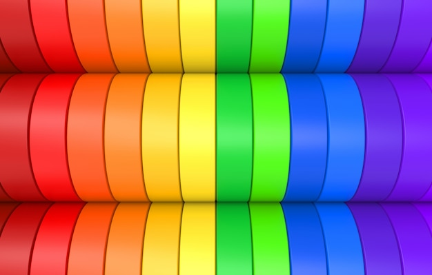 Fondo de panel de curva lgbt colorido arco iris