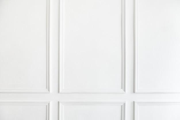 Fondo de paneles de pared blanca interior