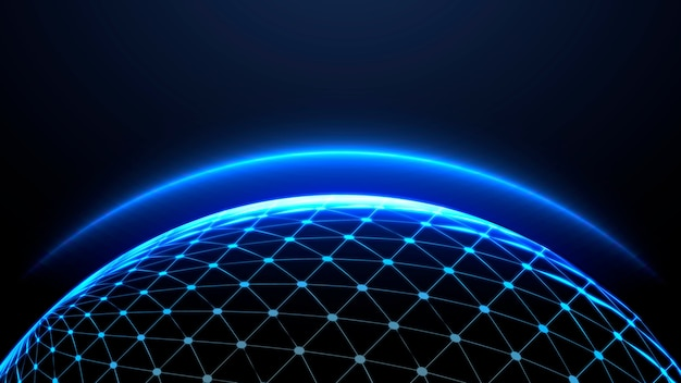 Fondo de pantalla de atmósfera brillante globo azul