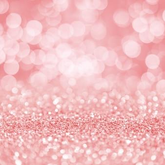 Fondo de pantalla cuadrada de bokeh de partículas brillantes rosa