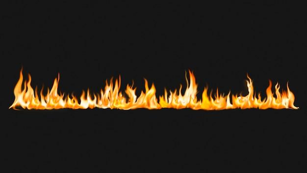 Fondo de pantalla flame hd, imagen de fuego realista