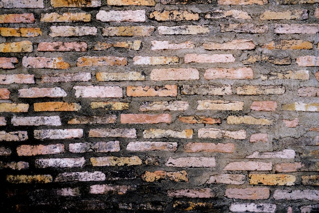 Fondo de pantalla de fondo de ladrillo viejo y crack