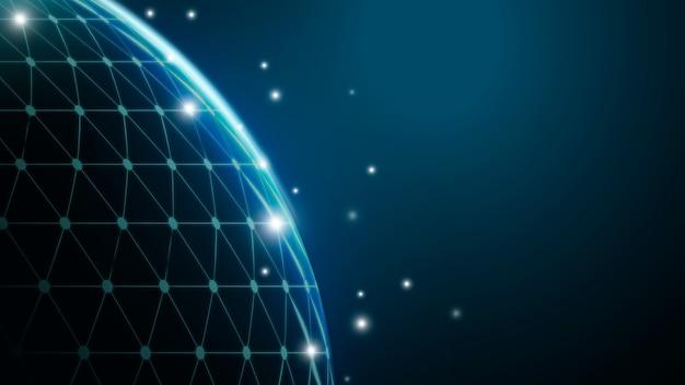 Fondo de pantalla de gradiente de cuadrícula digital de globo