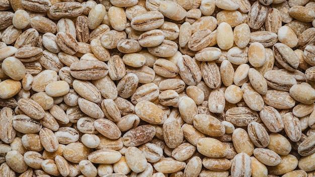 Fondo de pantalla de granos de café crudo de vista superior