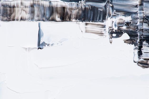 Fondo de pantalla de pincelada de pintura, borde de pincelada negra