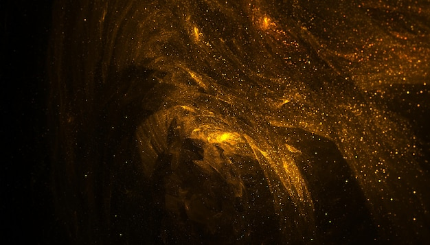 Fondo de pantalla de polvo de partículas doradas