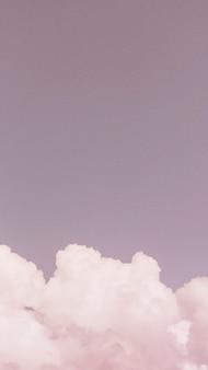 Fondo de pantalla de teléfono móvil cielo rosa