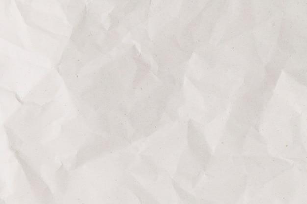 Fondo de papel arrugado blanco simple artesanía de bricolaje