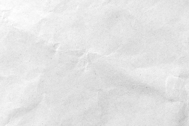 Fondo de papel arrugado blanco de la textura. de cerca.