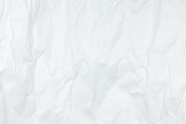 Fondo de papel arrugado blanco