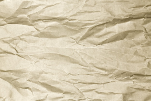 Fondo de papel arrugado marrón