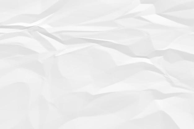 Fondo de papel blanco arrugado de cerca