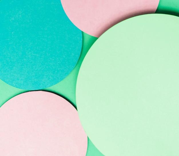 Fondo de papel círculo abstracto patrón