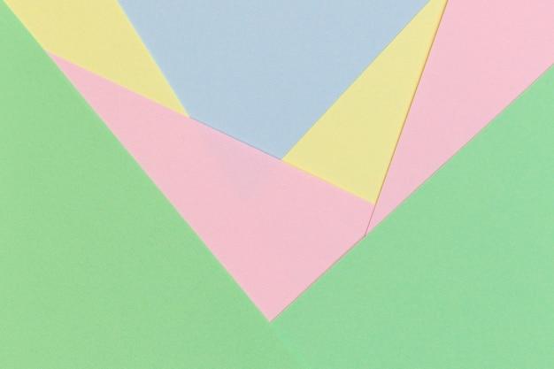 Fondo de papel geométrico abstracto en tonos de color pastel claro