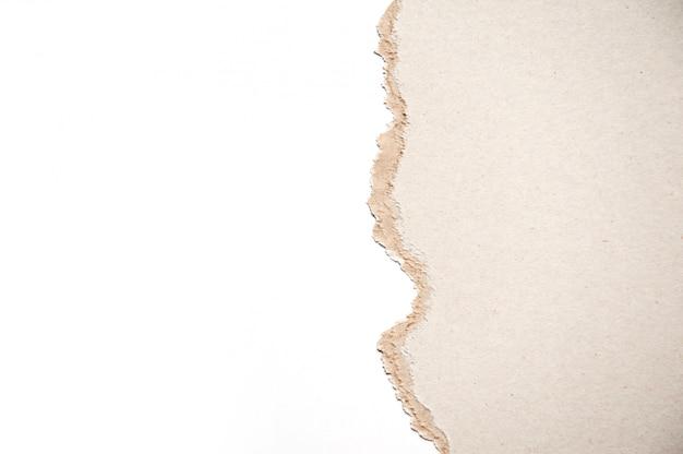 Fondo de papel kraft y fondo blanco con copyspace