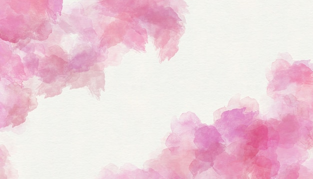 Fondo de papel pintado acuarela rosada de la textura.