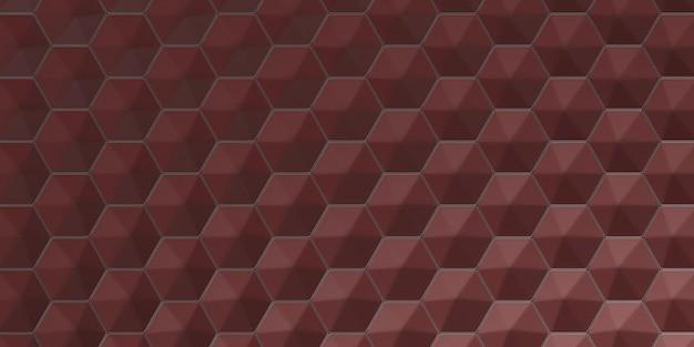 Fondo de papel pintado hexagonal abstracto geométrico 3d