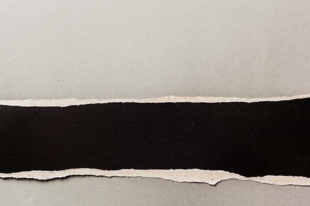 Fondo de papel rasgado negro