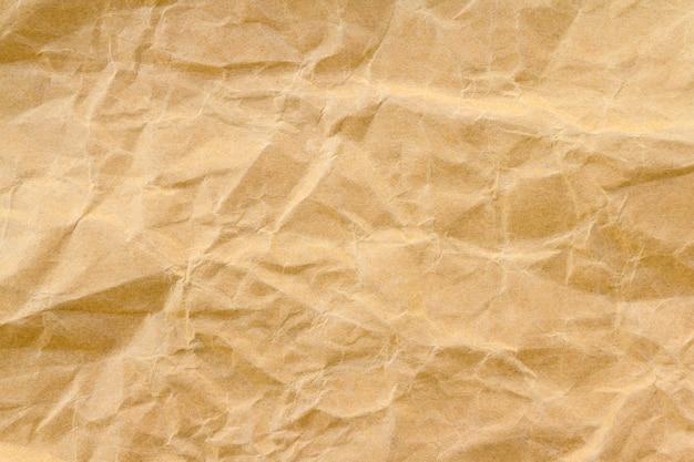 Fondo de papel reciclado arruga marrón