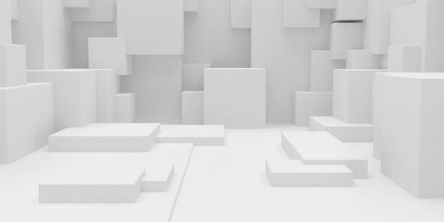 Fondo de papel tapiz cuboide abstracto geométrico 3d