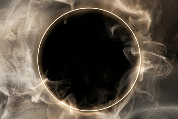 Fondo de papel tapiz de espacio abstracto, diseño de humo oscuro