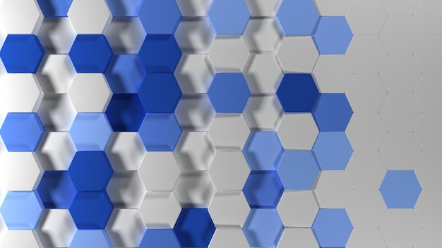 Fondo de papel tapiz hexagonal abstracto geométrico 3d